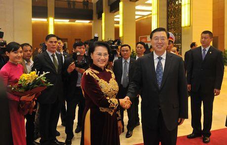 Chu tich Quoc hoi chu tri le don chinh thuc Chu tich Nhan dai Trung Quoc - Anh 1