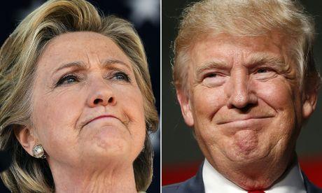Ong Trump dang dan truoc ba Clinton 19-3 phieu dai cu tri - Anh 1