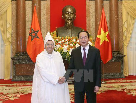 Chu tich nuoc Tran Dai Quang tiep cac Dai su den trinh Quoc thu - Anh 1