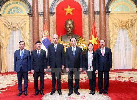 Chu tich nuoc Tran Dai Quang tiep cac Dai su den trinh Quoc thu - Anh 3