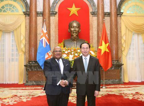 Chu tich nuoc Tran Dai Quang tiep cac Dai su den trinh Quoc thu - Anh 4