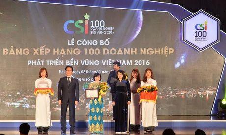 Vingroup vao top 10 doanh nghiep ben vung nhat Viet Nam 2016 - Anh 1