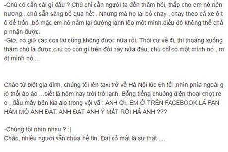 Bo Dat Co khoc nghen vi cai chet cua con trai: 'Chu con gi tren doi nay nua dau!' - Anh 7