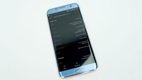 Mo hop Galaxy S7 edge xanh san ho xach tay gia 15,5 trieu - Anh 1