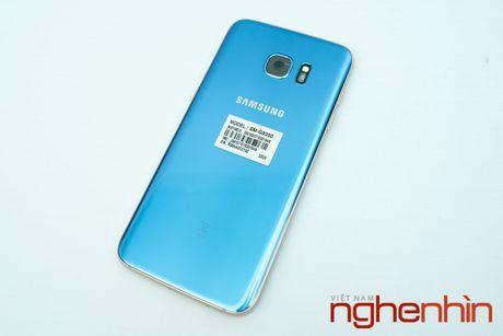 Mo hop Galaxy S7 edge xanh san ho xach tay gia 15,5 trieu - Anh 3