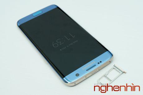 Mo hop Galaxy S7 edge xanh san ho xach tay gia 15,5 trieu - Anh 7