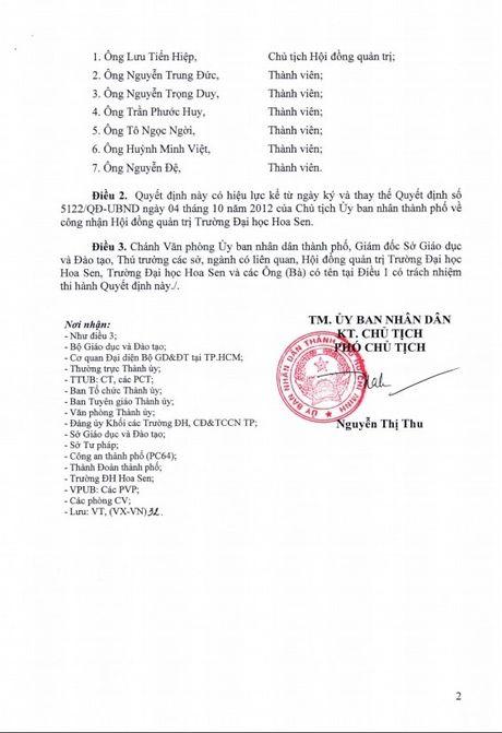 Da co quyet dinh moi thanh lap Hoi dong Quan tri Dai hoc Hoa Sen - Anh 2
