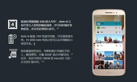 Moto M ra mat: Chip 8 nhan, RAM 4GB, gia 295USD - Anh 2