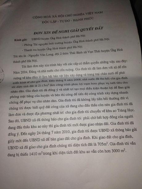 8 nam yeu cau boi thuong dat o Ung Hoa, HN: Van dam chan tai cho? - Anh 1