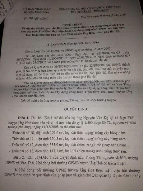 8 nam yeu cau boi thuong dat o Ung Hoa, HN: Van dam chan tai cho? - Anh 3