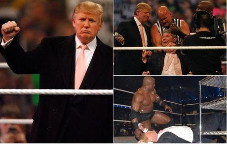 Ong Donald Trump tung cao dau doi thu tren san WWE - Anh 1