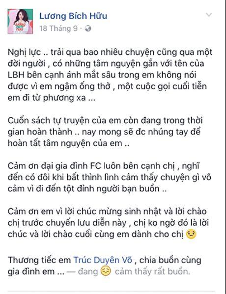 Sao Viet bay to xot thuong khi 'fan ruot' qua doi - Anh 9