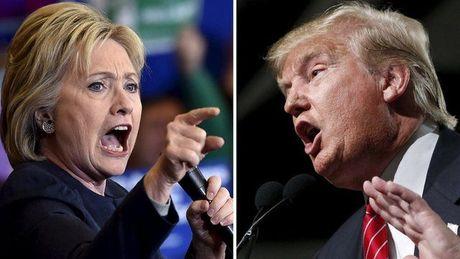 Trump bat ngo dan truoc khien ba Clinton lo sot vo - Anh 1