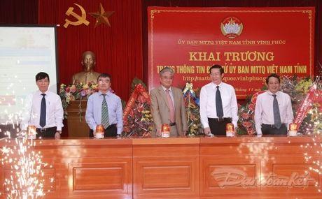 BAN TIN MAT TRAN: Ra mat Trang thong tin dien tu cua MTTQ tinh Vinh Phuc - Anh 1