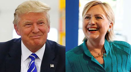 Nhung nguoi ung ho ba Clinton ngoi bet xuong duong, om nhau ua nuoc mat - Anh 1