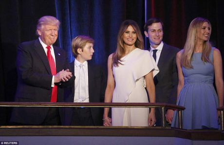 Gia dinh Donald Trump rang ro phut vinh quang - Anh 5