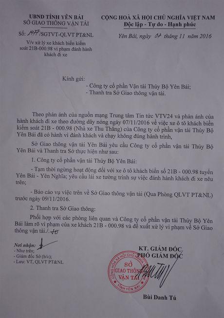 Yen Bai kien quyet xu ly xe chay sai tuyen va hanh hung 'thuong de' - Anh 1