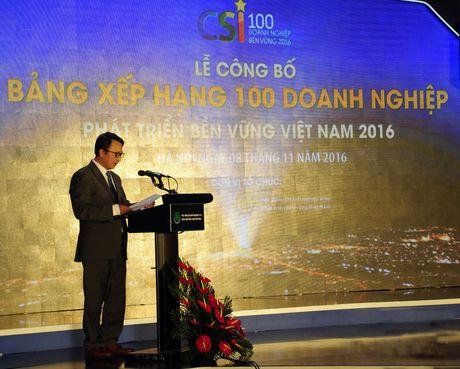 Danh sach 100 doanh nghiep phat trien ben vung Viet Nam 2016 - Anh 1