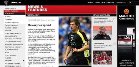 Cu soc: Ramsey lat keo, Man Utd e che - Anh 2