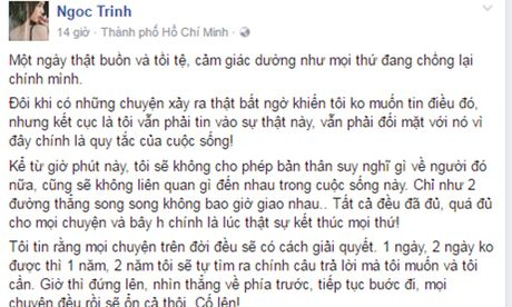 Ngoc Trinh quyet cham dut voi tinh cu dai gia - Anh 2