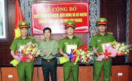 Bo nhiem, dieu dong can bo giu chuc vu lanh dao cap phong truc thuoc CATP Da Nang - Anh 1