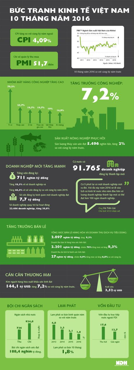 Nhin lai buc tranh kinh te Viet Nam 10 thang nam 2016 - Anh 1