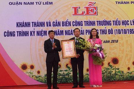 Khanh thanh, gan bien cong trinh Truong tieu hoc Ly Nam De - Anh 1