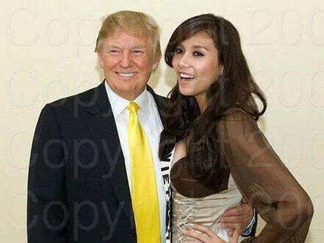 Vo Hoang Yen khoe anh chup voi tan tong thong My Donald Trump - Anh 1