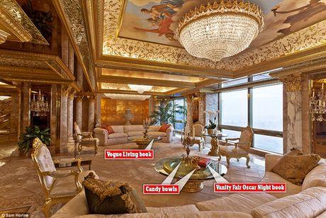 Chiem nguong ve dep trong can penthouse dat vang cua ngai Donald Trump - Anh 1