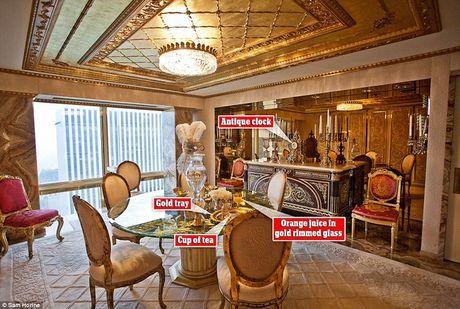 Chiem nguong ve dep trong can penthouse dat vang cua ngai Donald Trump - Anh 2
