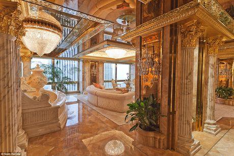 Chiem nguong ve dep trong can penthouse dat vang cua ngai Donald Trump - Anh 5