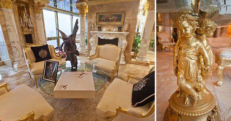 Chiem nguong ve dep trong can penthouse dat vang cua ngai Donald Trump - Anh 9