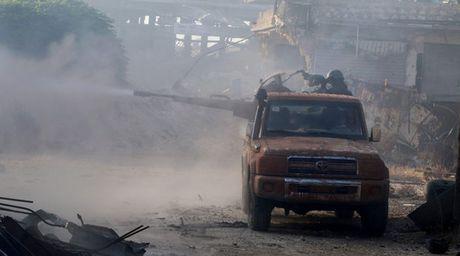 Chien binh Hoi giao cuc doan thao chay khoi du an 1070 Aleppo - Anh 1