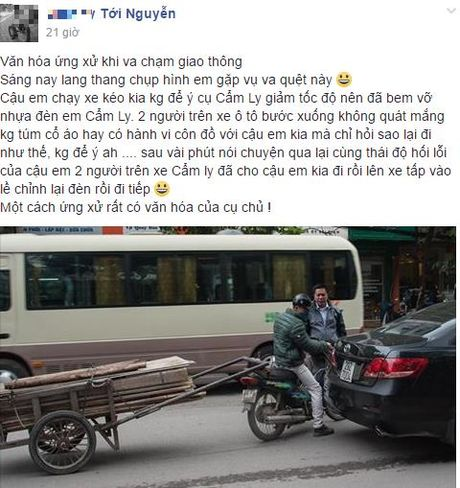 Hanh dong bat ngo cua tai xe xe Camry voi nam thanh nien di xe may - Anh 1