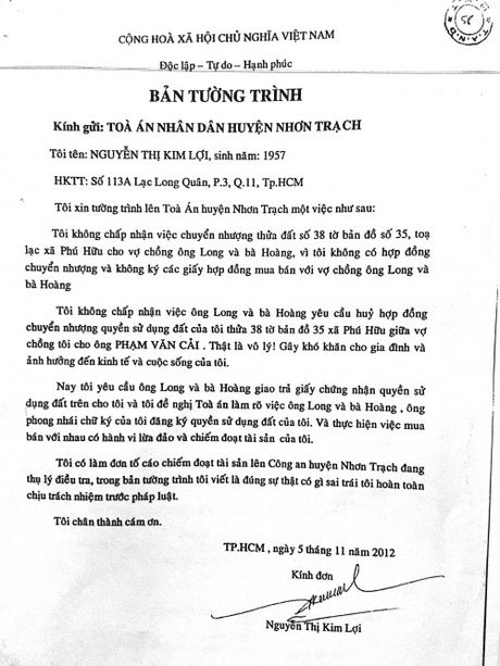 Nguyen don khong de nghi CQDT vao cuoc neu vu viec khong that? - Anh 1