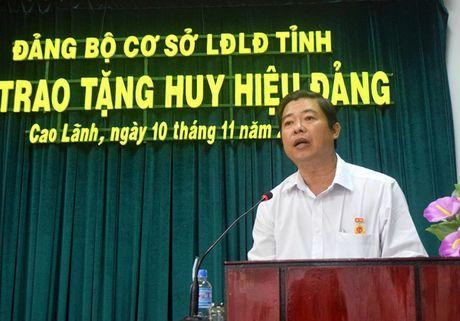 LDLD Dong Thap: Giam doc Nha van hoa Lao Dong nhan Huy hieu 30 tuoi Dang - Anh 2