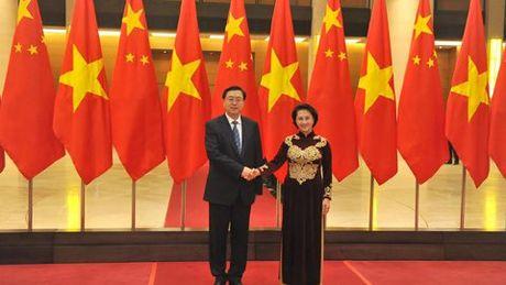 Chu tich QH Trung Quoc du khan Quoc hoi Viet Nam - Anh 1