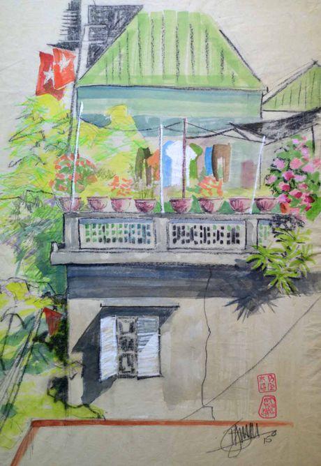 Ve dep nen tho cua o cua so Viet Nam qua tranh cua hoa si Anh - Anh 8