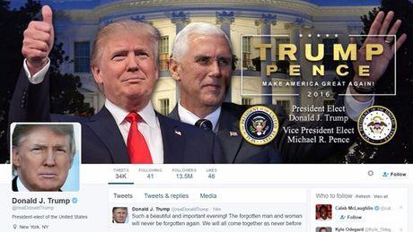 Donald Trump cap nhat ho so Twitter ngay sau khi dac cu - Anh 1