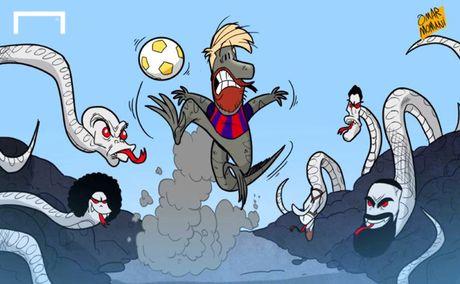 Biem hoa 24h: Messi gay 'bao' voi hinh xam moi - Anh 3