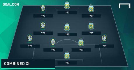Doi hinh 'sieu manh' ket hop giua Brazil voi Argentina - Anh 1
