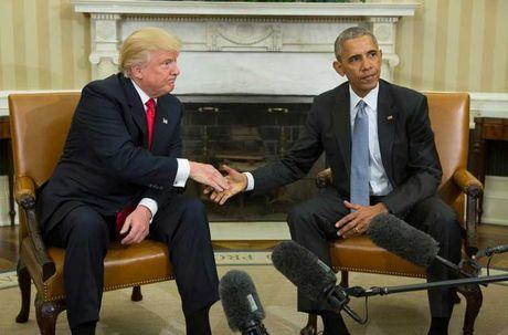 Nhung cu chi day an y trong cuoc gap Donald Trump-Barack Obama - Anh 1