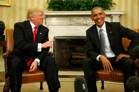 Nhung cu chi day an y trong cuoc gap Donald Trump-Barack Obama - Anh 2
