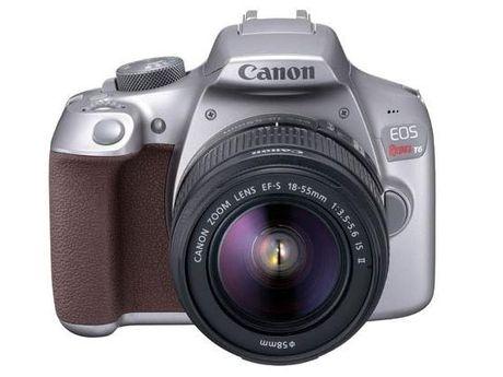Canon EOS Rebel T6 co them ban mau xam - Anh 1