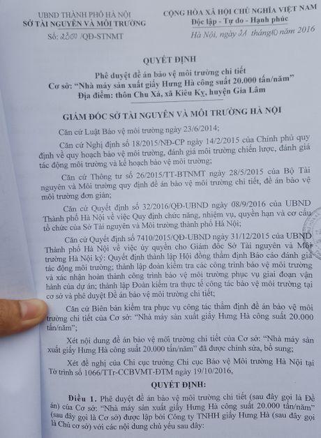 Ha Noi: Kiem tra viec xa thai cua Cong ty giay Hung Ha - Anh 4