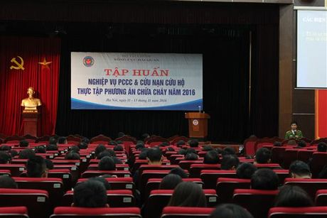 Tong cuc Hai quan tap huan nghiep vu phong chay chua chay - Anh 1