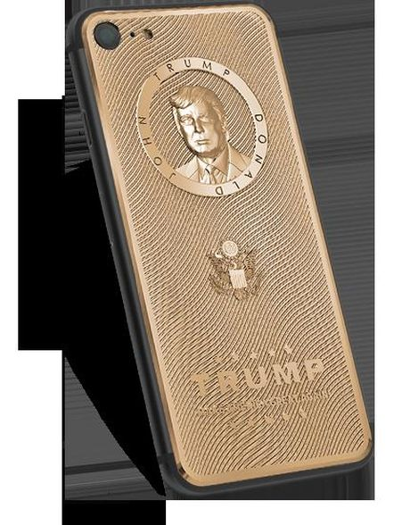 iPhone 7 vo vang khac chan dung Donald Trump gia 3.000 USD - Anh 1