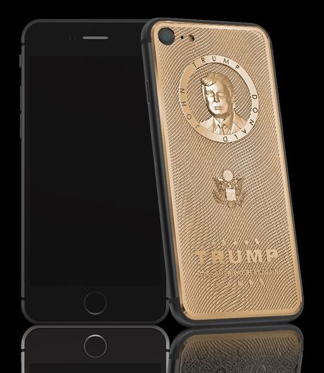 iPhone 7 vo vang khac chan dung Donald Trump gia 3.000 USD - Anh 2