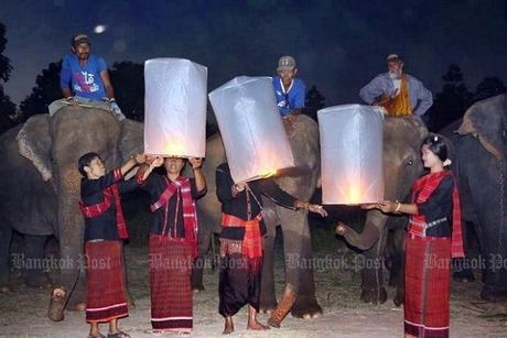 Thai Lan huy nhieu chuyen bay trong le hoi tha den long - Anh 1