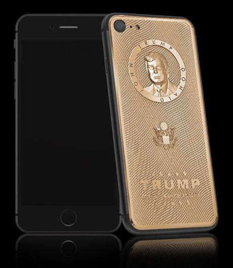 Sau Tong thong Putin, Donald Trump duoc khac hoa chan dung tren iPhone - Anh 2